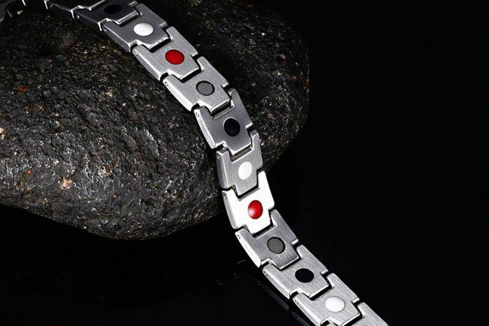 магнитный браслет Константа Gold Silver 4 в 1