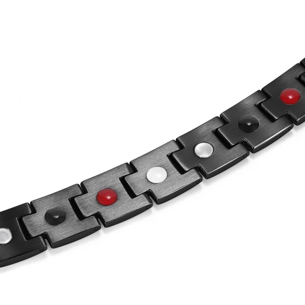 Черный браслет с магнитом