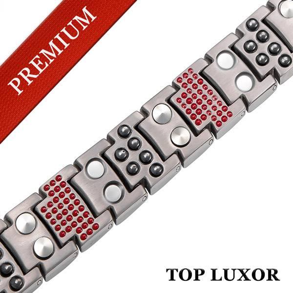Магнитный браслет Премиум Топ Люксор silver