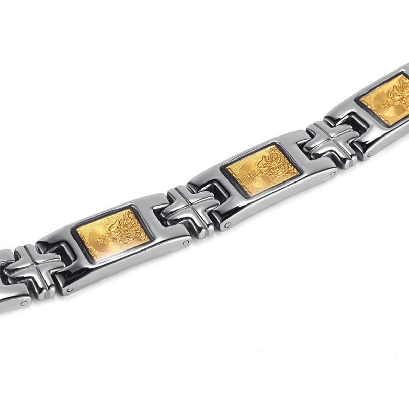 Магнитный браслет Энергия Будды silver