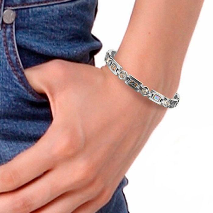 Магнитный браслет Чероки Silver