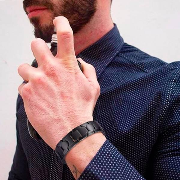 Магнитный браслет Релакс black