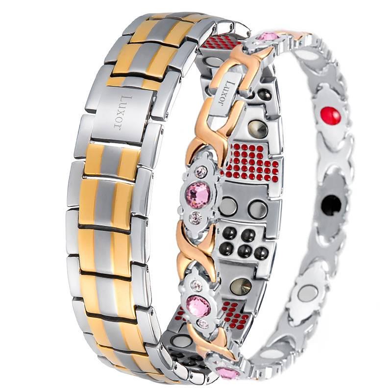 Парные магнитные браслеты Премиум Топ Luxor и Атлас