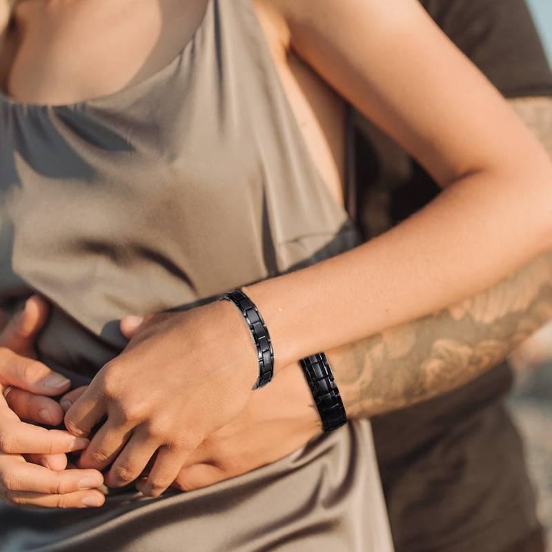 Парные магнитные браслеты Премиум Luxor Black